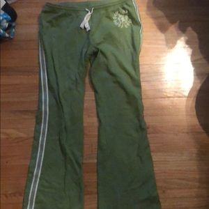 Mossimo green drawstring sweat pants